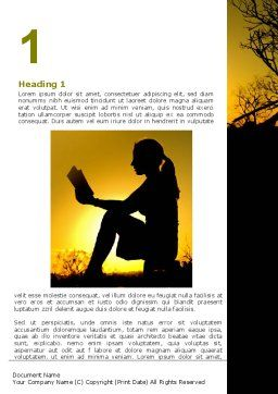 Sunset Reading Word Template First Inner Page