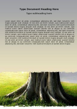 Tree Trunk Word Template, Cover Page, 06142, Nature & Environment — PoweredTemplate.com