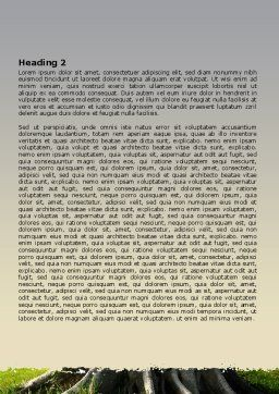 Tree Trunk Word Template, Second Inner Page, 06142, Nature & Environment — PoweredTemplate.com