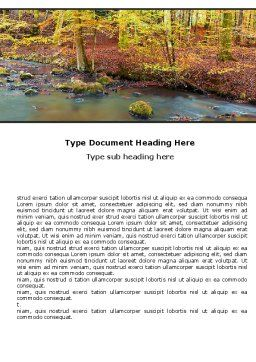 Autumn Scenery Word Template, Cover Page, 06147, Nature & Environment — PoweredTemplate.com