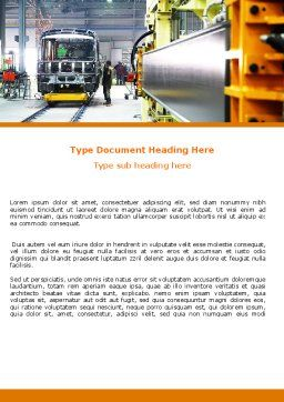 Automotive Assembly Line Word Template, Cover Page, 06150, Utilities/Industrial — PoweredTemplate.com