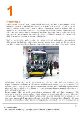 Automotive Assembly Line Word Template, First Inner Page, 06150, Utilities/Industrial — PoweredTemplate.com