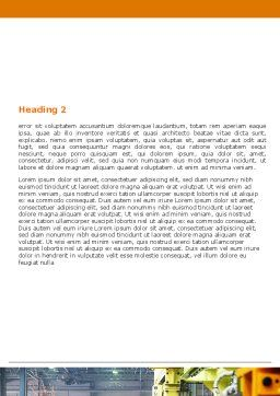 Automotive Assembly Line Word Template, Second Inner Page, 06150, Utilities/Industrial — PoweredTemplate.com