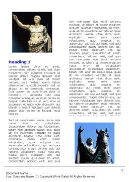 Kings Word Template, First Inner Page, 06151, Education & Training — PoweredTemplate.com