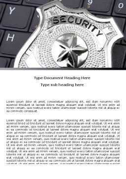 Web Security Word Template, Cover Page, 06153, Technology, Science & Computers — PoweredTemplate.com