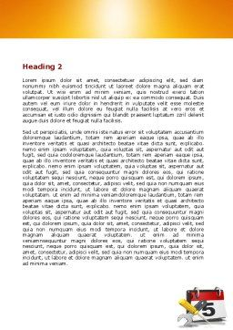 Building Deadline Word Template, Second Inner Page, 06160, Utilities/Industrial — PoweredTemplate.com