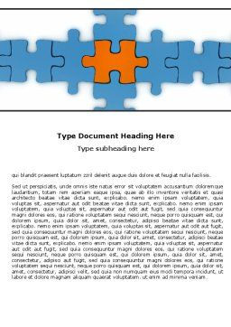 Center Puzzle Word Template, Cover Page, 06162, Consulting — PoweredTemplate.com