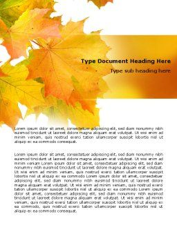 Yellow Leaves Of Maple Word Template, Cover Page, 06166, Nature & Environment — PoweredTemplate.com