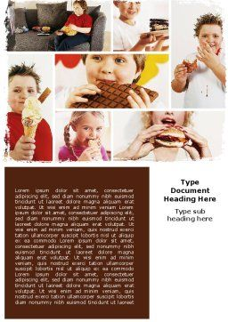 Sweet Snacks Word Template, Cover Page, 06170, Medical — PoweredTemplate.com