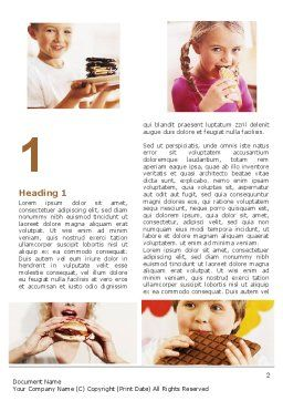 Sweet Snacks Word Template, First Inner Page, 06170, Medical — PoweredTemplate.com
