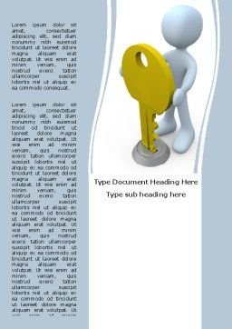 Unlock Word Template, Cover Page, 06177, Consulting — PoweredTemplate.com