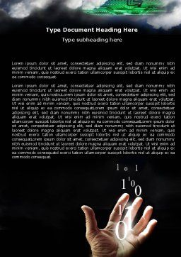 Information Coding Word Template, Cover Page, 06180, Technology, Science & Computers — PoweredTemplate.com