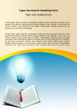 Enlightenment Word Template Cover Page