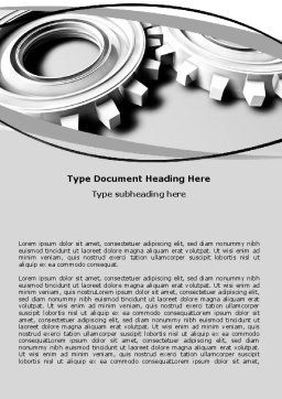 Organized Mechanism Word Template, Cover Page, 06182, Utilities/Industrial — PoweredTemplate.com