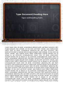 Blackboard Word Template Cover Page