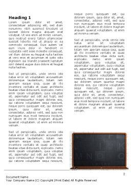 Blackboard Word Template First Inner Page