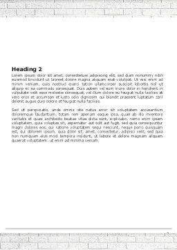 Blackboard Word Template Second Inner Page