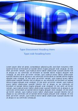 Digital Flow Word Template, Cover Page, 06185, Technology, Science & Computers — PoweredTemplate.com