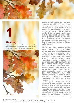 Yellow Oak Leaves Word Template, First Inner Page, 06189, Nature & Environment — PoweredTemplate.com