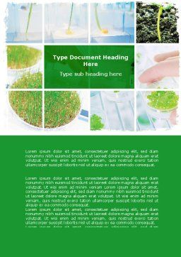 Free Plant Breeding In Laboratory Word Template, Cover Page, 06192, Technology, Science & Computers — PoweredTemplate.com