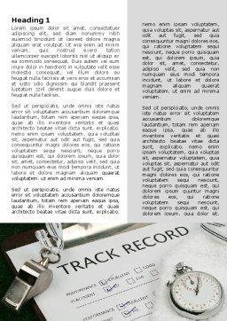 Track Record Word Template, First Inner Page, 06193, Sports — PoweredTemplate.com