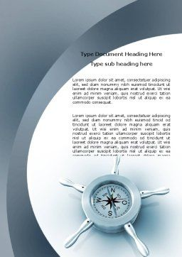 Steering Wheel Word Template, Cover Page, 06194, Business Concepts — PoweredTemplate.com