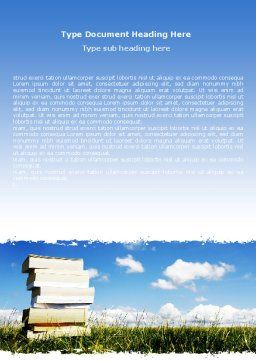 Book Pile Word Template Cover Page