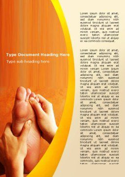 Feet Massage Word Template, Cover Page, 06196, Medical — PoweredTemplate.com