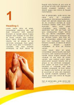Feet Massage Word Template, First Inner Page, 06196, Medical — PoweredTemplate.com