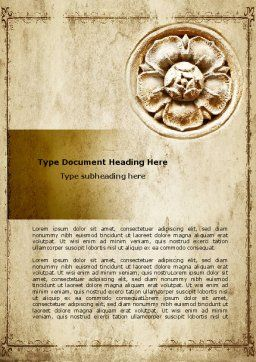 Wall Relief Word Template Cover Page