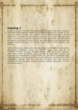 Wall Relief Word Template Second Inner Page