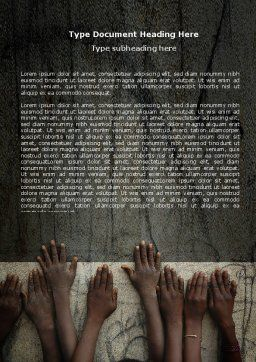 Poor Children Word Template, Cover Page, 06198, Religious/Spiritual — PoweredTemplate.com
