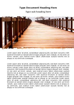 Beach Pier Word Template, Cover Page, 06200, Business Concepts — PoweredTemplate.com