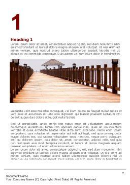 Beach Pier Word Template, First Inner Page, 06200, Business Concepts — PoweredTemplate.com