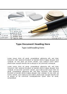Budgeting Word Template, Cover Page, 06201, Financial/Accounting — PoweredTemplate.com