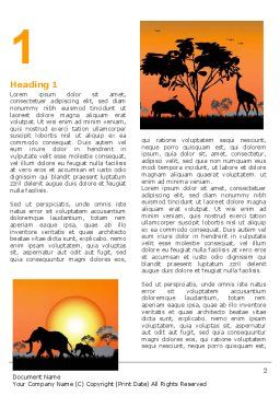Savanna Sunset Word Template First Inner Page