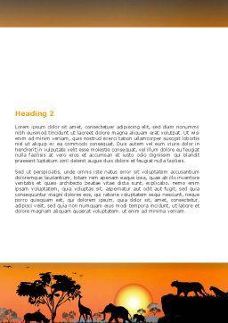Savanna Sunset Word Template Second Inner Page