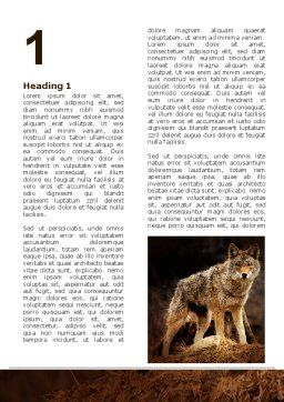 Coyote Word Template, First Inner Page, 06203, Agriculture and Animals — PoweredTemplate.com