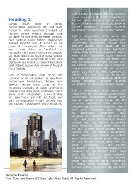 City Beach Word Template, First Inner Page, 06204, Construction — PoweredTemplate.com