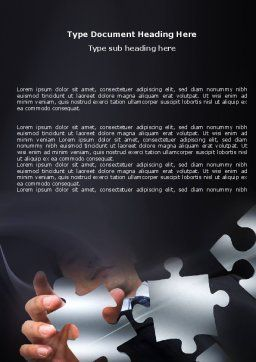 Solving Puzzle Word Template, Cover Page, 06207, Consulting — PoweredTemplate.com