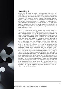 Solving Puzzle Word Template, Second Inner Page, 06207, Consulting — PoweredTemplate.com
