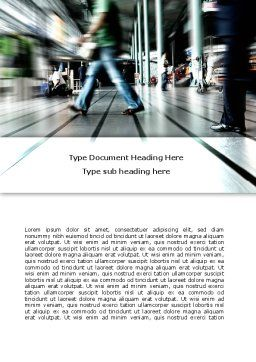 Moving People Word Template, Cover Page, 06209, Consulting — PoweredTemplate.com