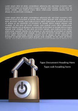 High Tech Security Word Template, Cover Page, 06210, Consulting — PoweredTemplate.com