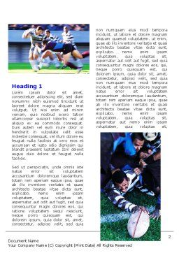Rugby Collage Word Template, First Inner Page, 06219, Sports — PoweredTemplate.com
