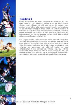 Rugby Collage Word Template, Second Inner Page, 06219, Sports — PoweredTemplate.com