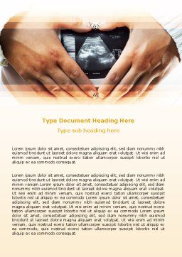 Ultrasonic Scanning Word Template, Cover Page, 06224, Medical — PoweredTemplate.com