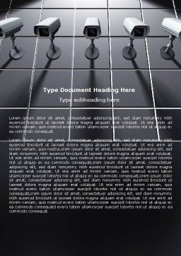 Monitoring Camera Word Template Cover Page