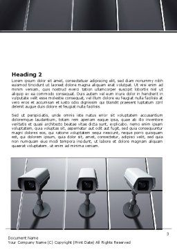 Monitoring Camera Word Template, Second Inner Page, 06226, Careers/Industry — PoweredTemplate.com