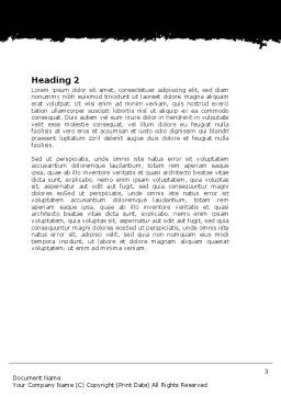 Hint Word Template, Second Inner Page, 06228, Consulting — PoweredTemplate.com