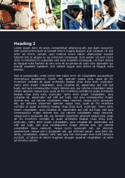 Family Travel Word Template, Second Inner Page, 06233, Consulting — PoweredTemplate.com